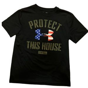 Under Armour Boy's Protect This House Tee EUC S
